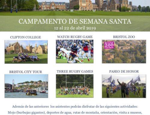 Campamentos de Semana Santa en Bristol y Valladolid