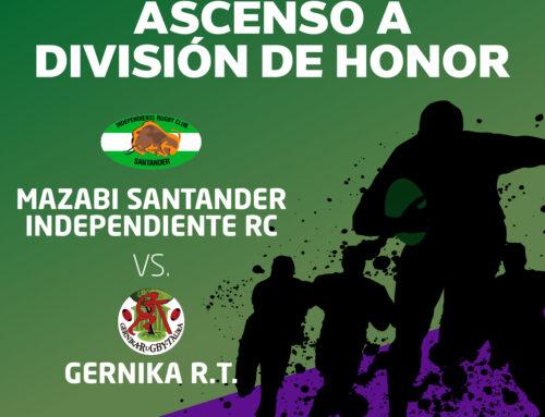 Pepe Rojo acoge el Independiente – Gernika con una plaza en la División de Honor en juego